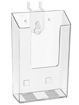 "Acrylic Pamphlet Holder - 4 x 1 1/8 x 6 1/2"" S-18604"
