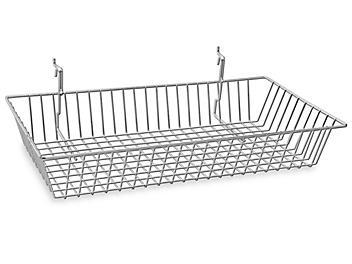 """Wire Baskets - 24 x 12 x 4"""", Chrome S-18612C"""