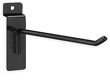 """Peg Hooks for Slatwall - 8"""", Black S-18614BL"""
