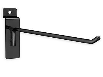 """Peg Hooks for Slatwall - 10"""", Black S-18615BL"""