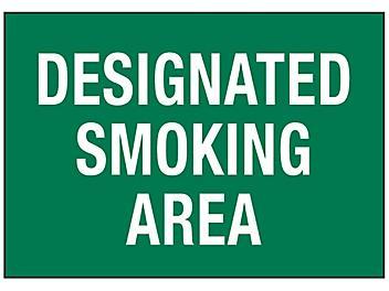 """Designated Smoking Area"" Sign"