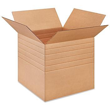 """20 x 20 x 20"""" 275 lb Multi-Depth Corrugated Boxes S-18983"""