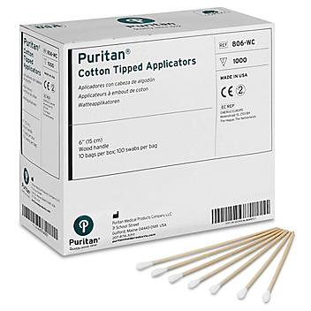 """Cotton Tipped Applicators - Industrial, 6"""" S-18991"""