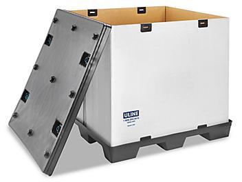 "Reusable Bulk Container - Corrugated, 48 x 40 x 45"" S-19003"