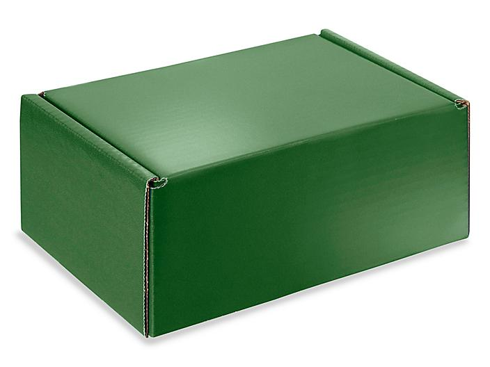 """Colored Mailers - 9 x 6 1/2 x 4"""", Green S-19115G"""