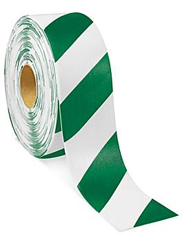 """Mighty Line® Deluxe Safety Tape - 4"""" x 100', Green/White S-19125G/W"""