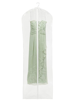 "Vinyl Zippered Garment Bags - 24 x 72"", Clear S-19137C"