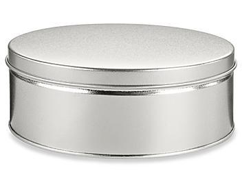 "Decorative Tins - 7 x 3"", Silver S-19142SIL"