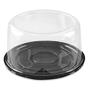 "Plastic Cake Containers - 8"" Round S-19147"
