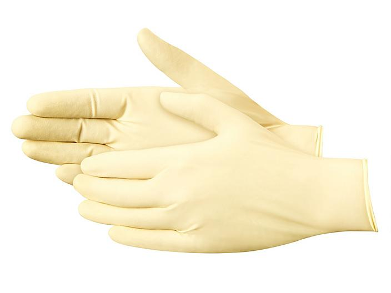 Uline Tough Grip Latex Gloves - Powder-Free, XL S-19177X