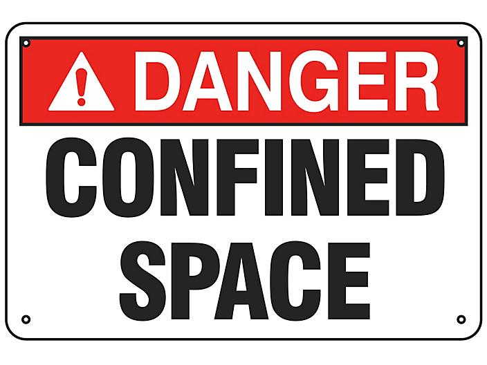"""""""Confined Space"""" Sign - Aluminum S-19207A"""