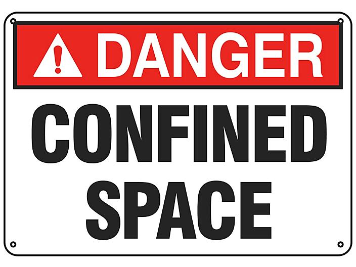 """""""Confined Space"""" Sign - Plastic S-19207P"""
