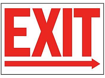 """Exit"" Arrow Right Sign"