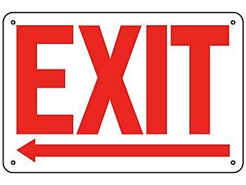 """""""Exit"""" Arrow Left Sign - Aluminum S-19209A"""