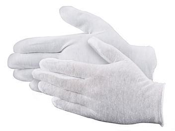 "Cotton Inspection Gloves - Heavy Weight, 9"", Men's S-19284M"
