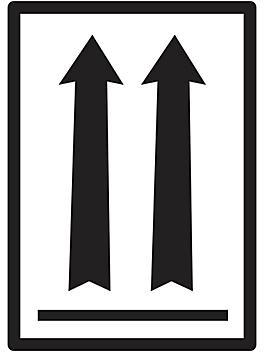 """Air Labels - Black Arrows, 3 x 4 1/4"""" S-19286"""