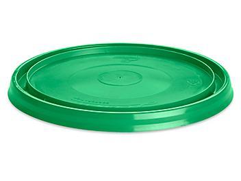 Standard Lid for 1 Quart Plastic Pail - Green S-19315G