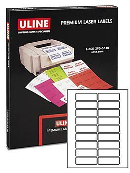 """Uline Laser Labels - White, 3 x 1"""" S-19346"""