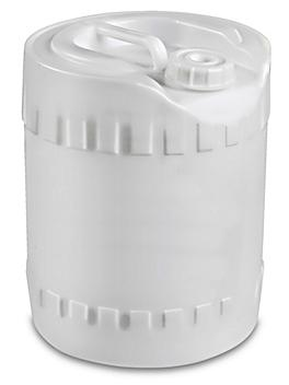 Closed Head Poly Pail - 5 Gallon, Natural S-19413