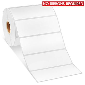 """Removable Adhesive Desktop Direct Thermal Labels - 4 x 1 1/2"""" S-19484"""