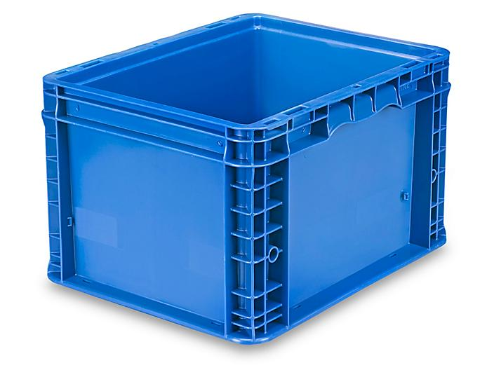 """Straight Wall Container - 15 x 12 x 9 1/2"""", Blue S-19508BLU"""