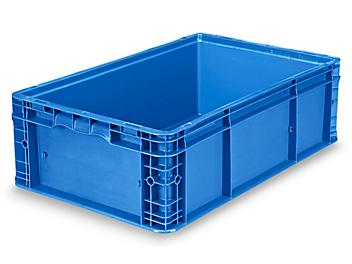 """Straight Wall Container - 24 x 15 x 7 1/2"""", Blue S-19509BLU"""