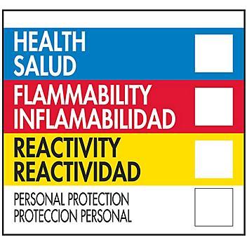 "Bilingual English/Spanish HMIL D.O.T. Label - 2 x 2"" S-19610"