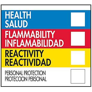 "Bilingual English/Spanish HMIL D.O.T. Label - 4 x 4"" S-19611"