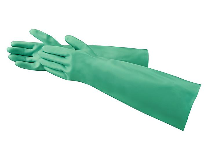 """Ansell AlphaTec® Sol-Vex® Chemical Resistant Nitrile Gloves - Extended Cuff, 18"""", Small S-19714-S"""