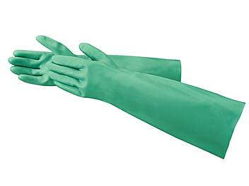 """Ansell AlphaTec<sup>&reg;</sup> Sol-Vex<sup>&reg;</sup> Chemical Resistant Nitrile Gloves - Extended Cuff, 18"""""""