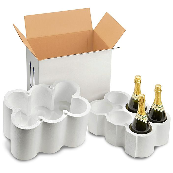 Champagne Bottle Shippers - 6 Bottle Pack S-19765