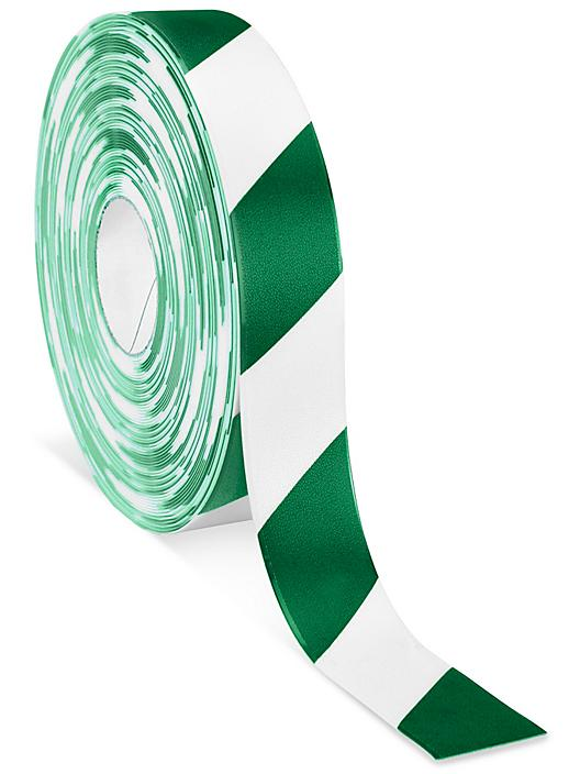 """Mighty Line® Deluxe Safety Tape - 2"""" x 100', Green/White S-19801G/W"""