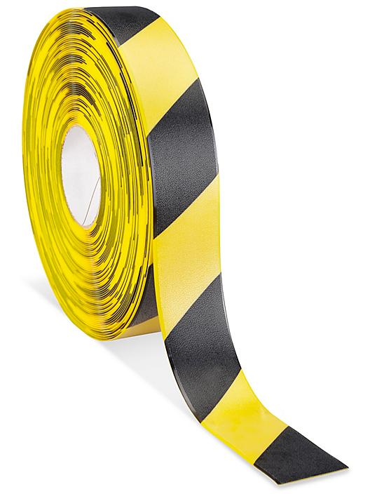 """Mighty Line® Deluxe Safety Tape - 2"""" x 100', Yellow/Black S-19801Y/B"""