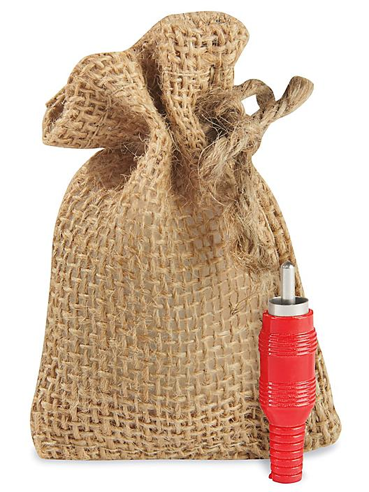 """Burlap Bags with Drawstring - 2 x 3"""" S-19803"""