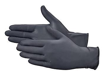 Uline Black Latex Gloves - Powder-Free, Small S-19810S