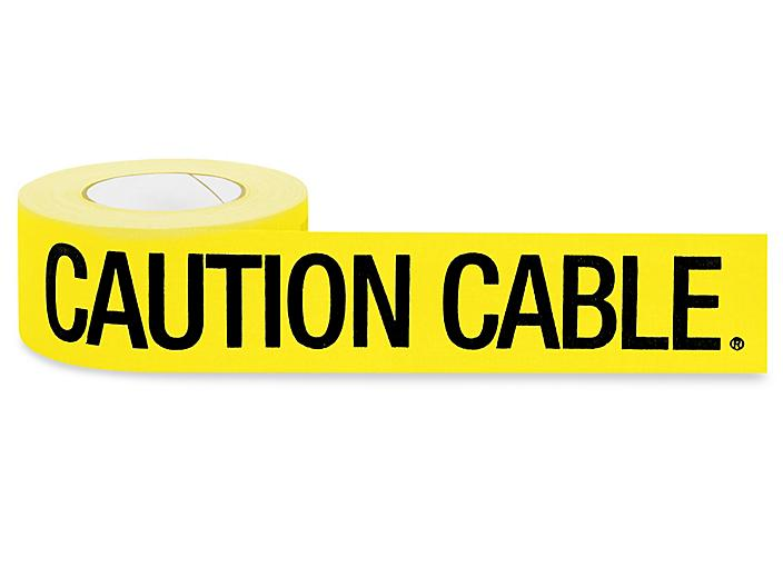"""Gaffer's Tape - """"Caution Cable"""", 3"""" x 50 yds S-19811"""