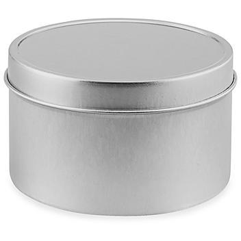Deep Metal Tins - Round, 8 oz, Solid Lid