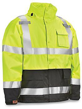 Class 3 Hi-Vis Heavy Duty Rain Jacket
