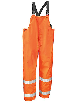 Class 3 Hi-Vis Heavy Duty Rain Overalls - Orange, 2XL S-19980O-2X