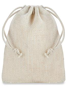 """Colored Burlap Bags with Drawstring - 4 x 6"""""""