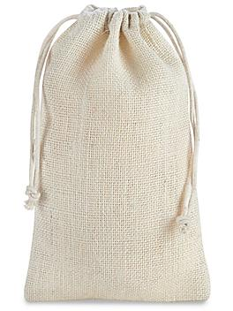 """Colored Burlap Bags with Drawstring - 6 x 10"""""""