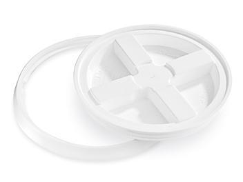 Gamma Seal Lid for 2 Gallon Plastic Pail - White S-20537