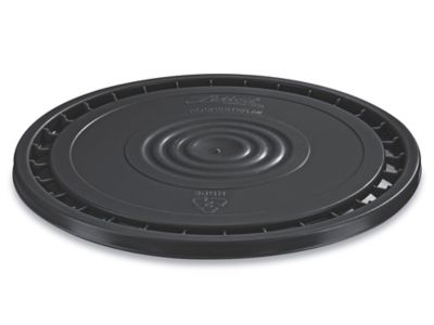 EZ Peel Lid for 3.5, 5, 6, and 7 Gallon Plastic Pail - Black