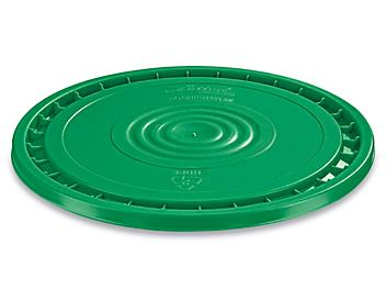 EZ Peel Lid for 3.5, 5, 6, and 7 Gallon Plastic Pail - Green S-20541G