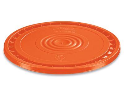 EZ Peel Lid for 3.5, 5, 6, and 7 Gallon Plastic Pail - Orange