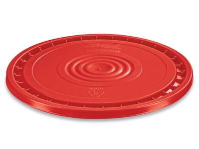 EZ Peel Lid for 3.5, 5, 6, and 7 Gallon Plastic Pail - Red