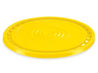 EZ Peel Lid for 3.5, 5, 6, and 7 Gallon Plastic Pail - Yellow