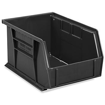 "Plastic Stackable Bins - 9 1/2 x 6 x 5"", Black S-20581BL"