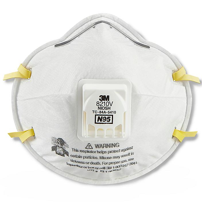 3M 8210V N95 Industrial Respirator with Valve S-20627