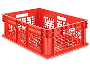 """Mesh Straight Wall Container - 24 x 16 x 8 1/2"""", Red S-20633R"""